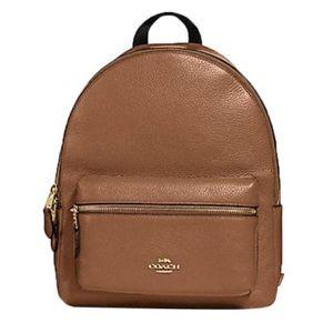 COACH Charlie Medium Leather Backpack
